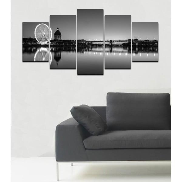 Wieloczęściowy obraz Black&White no. 70, 100x50 cm