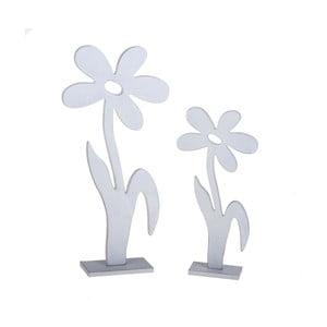 Zestaw 2 drewnianych kwiatów dekoracyjnych Dino Bianchi Spezia