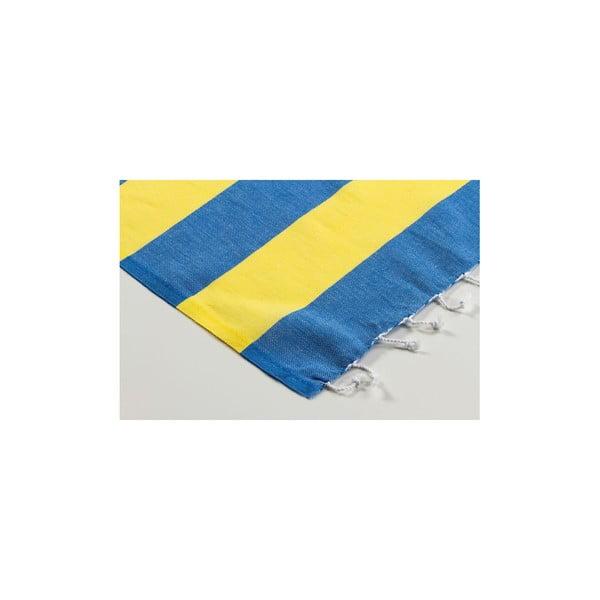 Ręcznik hamam Myra Blue Yellow, 100x180 cm