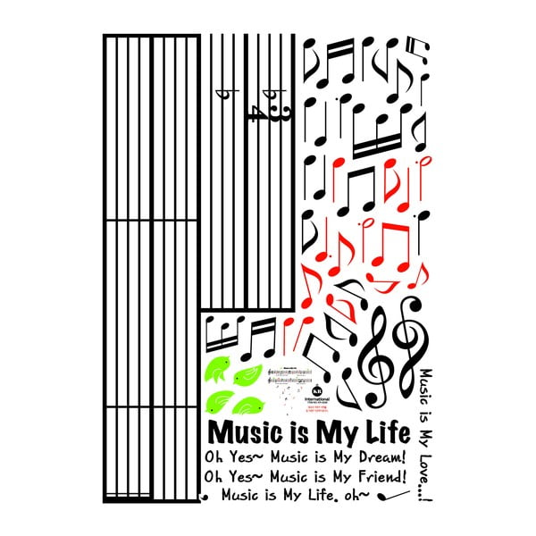 Naklejka Music Is My Life