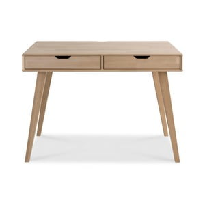 Biurko wykonane ręcznie z litego drewna brzozowego Kiteen Kolo
