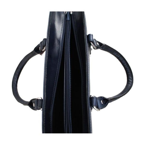 Skórzana torba Grechetto, niebieska