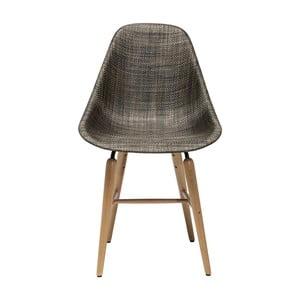 Ciemnobrązowe krzesło Kare Design Forum