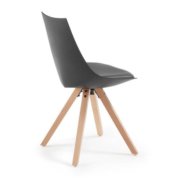 Zestaw 4 czarnych krzeseł La Forma Armony