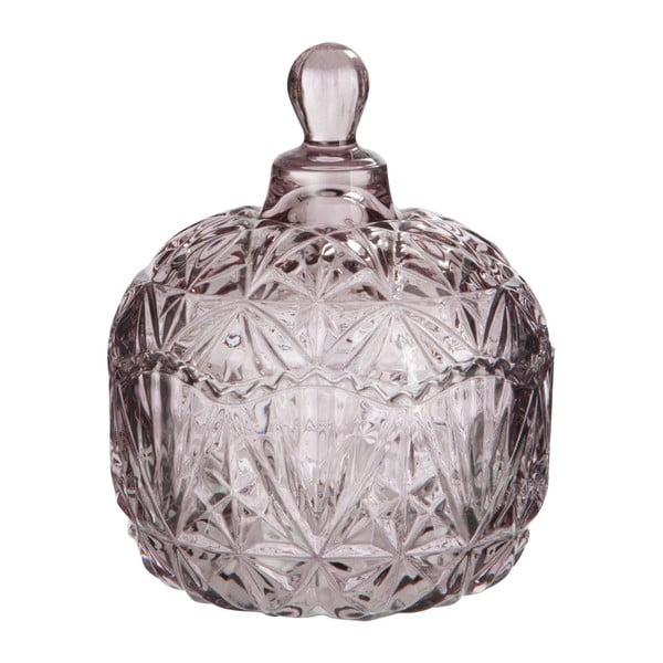 Różowe   naczynie szklane Nacre