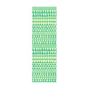 Winylowy dywan Etnico Crema Turquesa, 80x250 cm