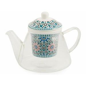 Dzbanek z porcelanowym sitkiem na herbatę liściastą Villa d'Este Bisanzio
