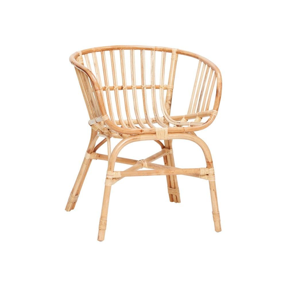 Naturalny fotel rattanowy Hübsch Christofferson
