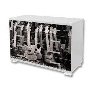 Tapeta samoprzylepna na meble Dimex Gitary, 125x85cm