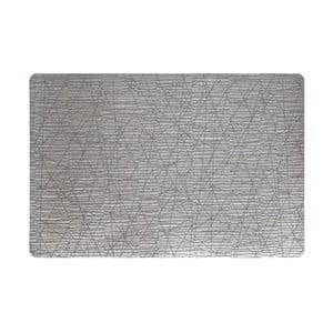 Zestaw dwóch mat Lines, srebrna/szara