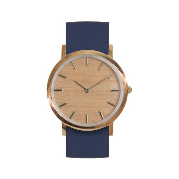 Drewniany zegarek z niebieskim paskiem Analog Watch Co. Classic