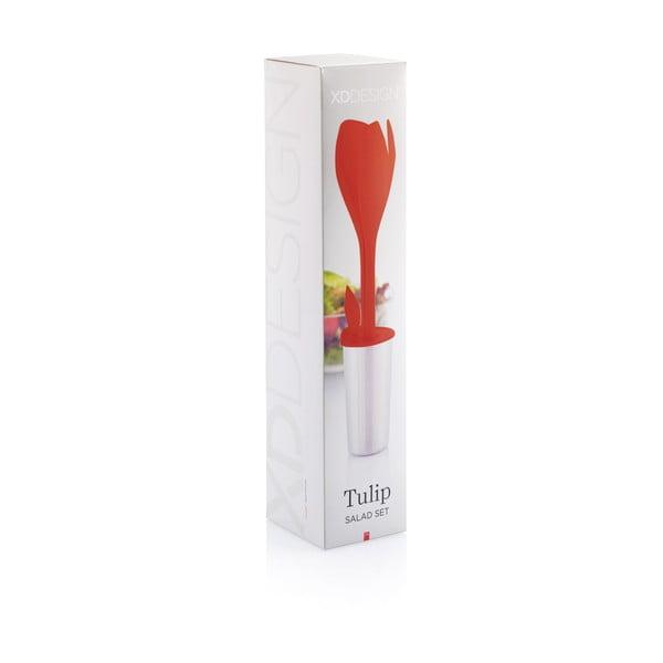 Czerwone   akcesoria do sałatek XD Design Tulip