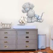 Naklejka dekoracyjna na ścianę Miś, kotka i piesek