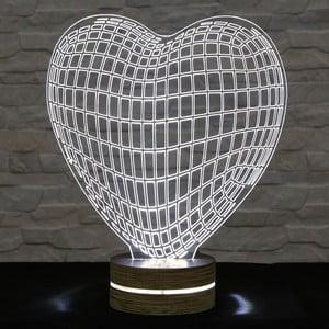 Lampa 3D stołowa Heart