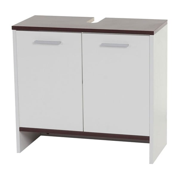 Szafka łazienkowa Sonoma White/Brown, 28x60x56 cm