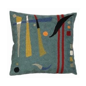 Poszewka na poduszkę Teal Abstract, 45x45 cm