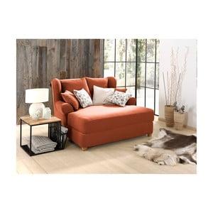 Pomarańczowy fotel dwuosobowy Sinkro Still in Love