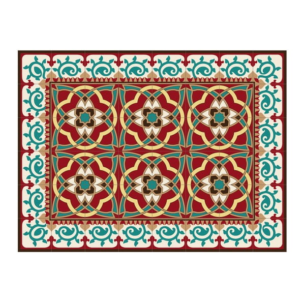 Dywan z PVC Red Arabesque, 120x70 cm