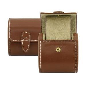 Brązowe pudełko skórzane na zegarek Friedrich Lederwaren Cordoba