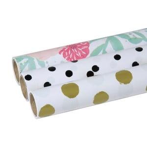 Zestaw 3 papierów do pakowania Tri-Coastal Design Design Lovely Dots