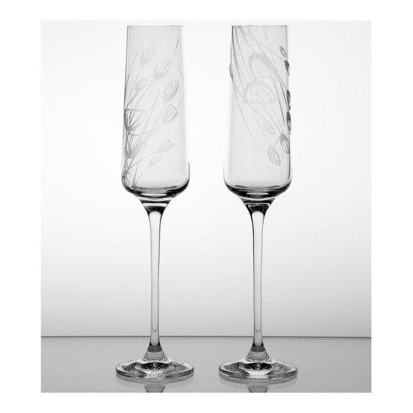 Zestaw 2 kieliszków do szampana Czarnuszka
