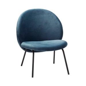 Niebieski fotel Hübsch Abelone