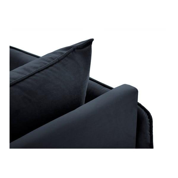 Ciemnoniebieski szezlong z podłokietnikiem po lewej stronie Cosmopolitan Design Vienna