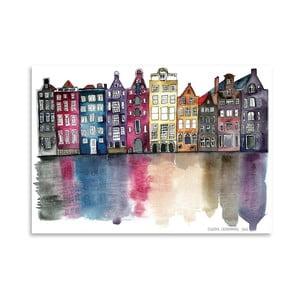 Plakat Americanflat Amsterdam by Claudia Libenberg, 30x42 cm