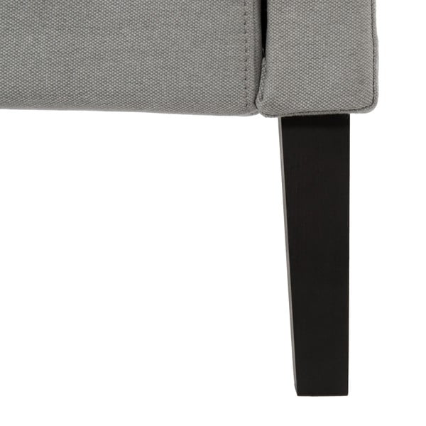 Jasnoszare łóżko z czarnymi nóżkami Vivonita Windsor, 140x200 cm