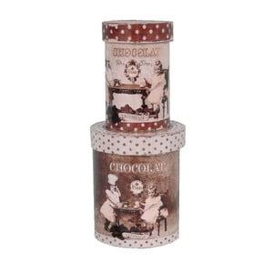 Zestaw 2 pojemników Antic Line Choco Kids