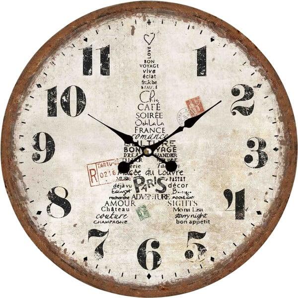Zegar naścienny Eiffel in Paris, 34 cm