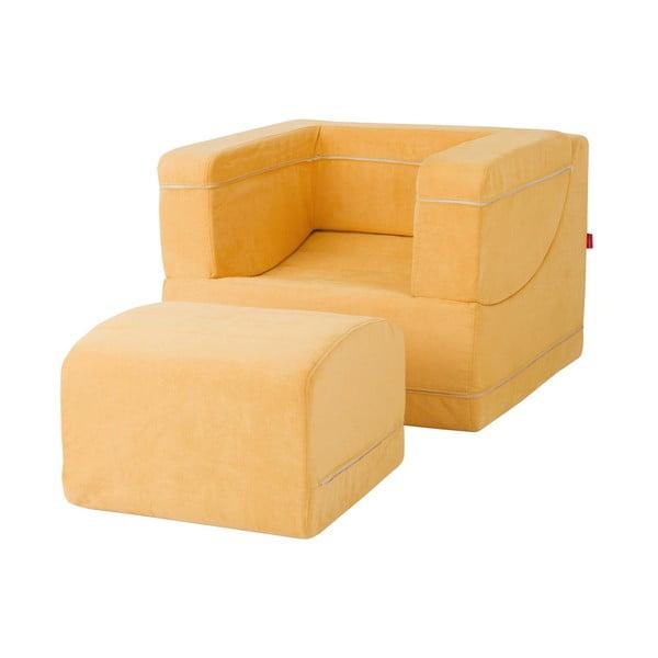Fotel / szezlong Brownie, brzoskwiniowy