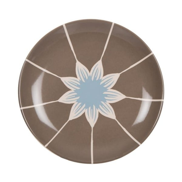 Komplet 18 talerzy ceramicznych Tribe Brown