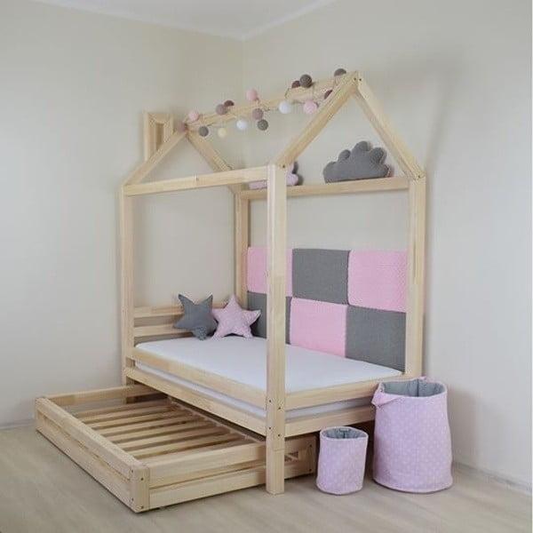Zestaw 4 białych dodatkowych nóg z drewna świerkowego do łóżka Benlemi,wys.20cm
