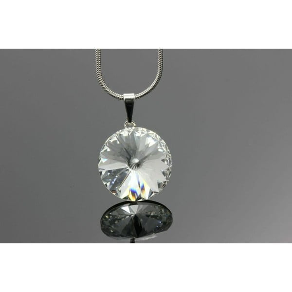 Naszyjnik Swarovski Elements Clear Drop