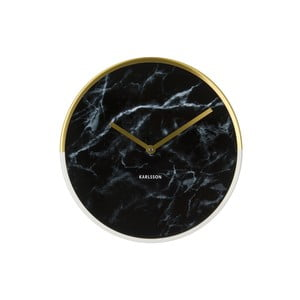 Zegar Present Time Marble Delight Black
