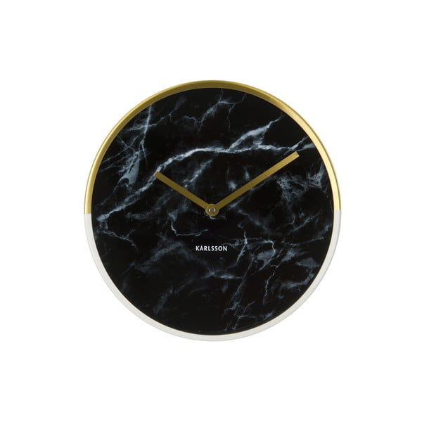 Zegar Karlsson Marble Delight Black