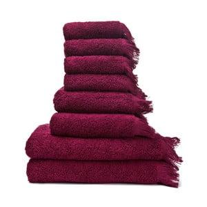 Zestaw 8 bordowych ręczników ze 100% bawełny Bonami