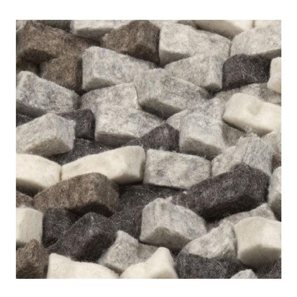 Wełniany dywan Crush Grey, 170x240 cm