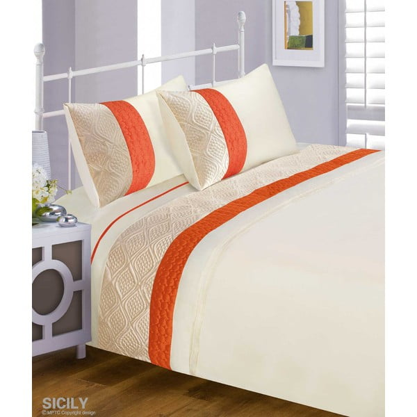 Pościel Sicily Orange, 200x200 cm