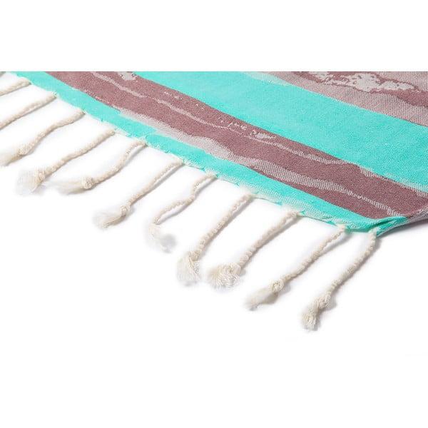 Niebieski ręcznik hammam Brush