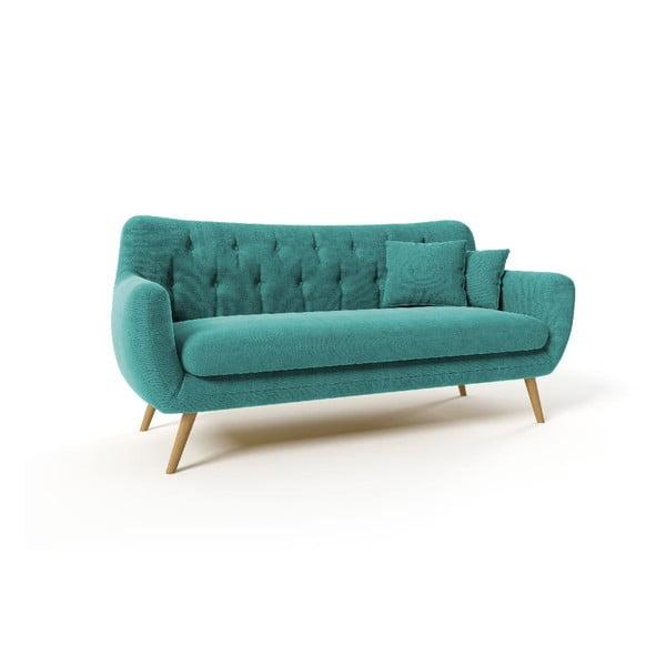 Trzyosobowa sofa Renne, niebieska