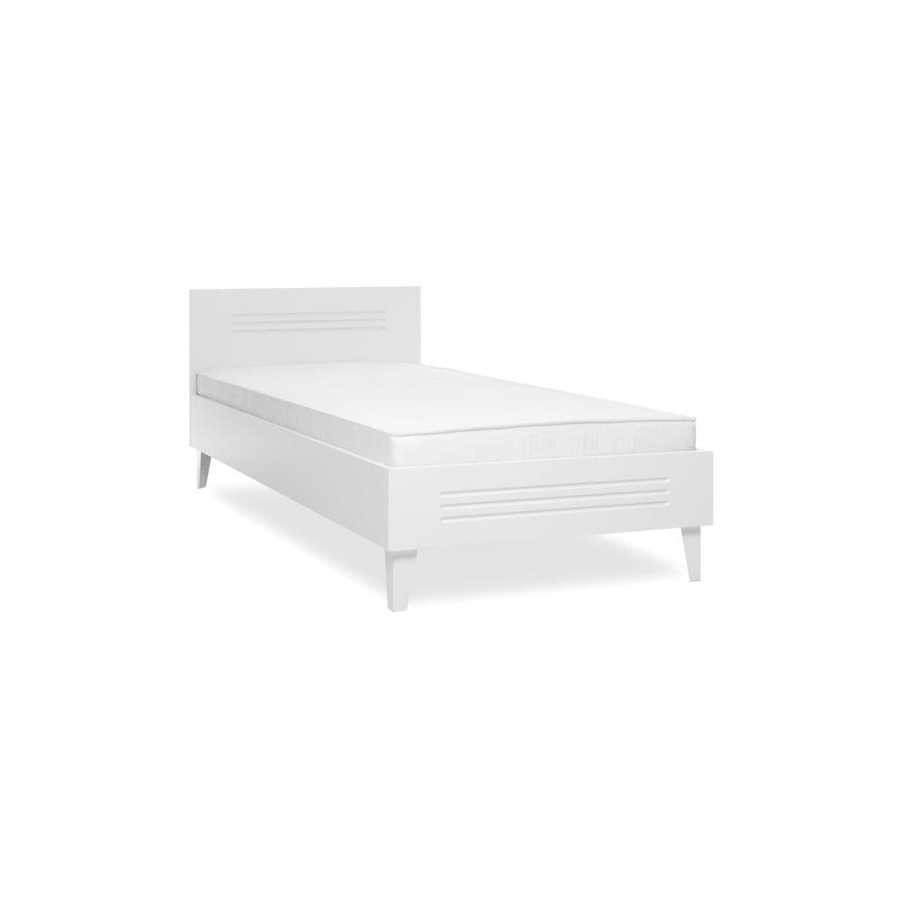 Białe łóżko Jednoosobowe Intertrade Factory 90x200 Cm Bonami