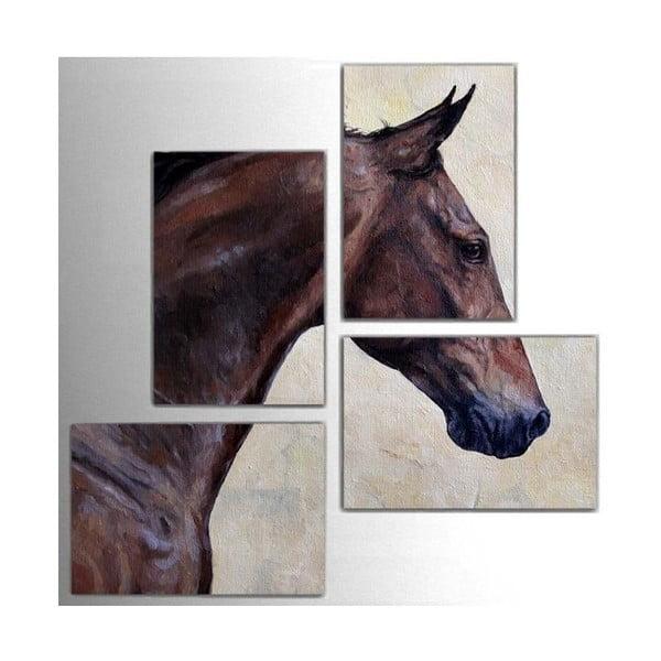 Czteroczęściowy obraz Horse, 76x76 cm