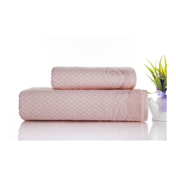 Zestaw 2 ręczników Acustic Powder, 50x90 cm i 70x140 cm