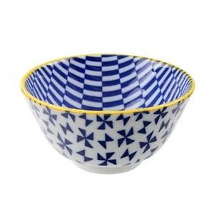 Porcelanowa miska Geo Rice Blue, 12x6,4 cm