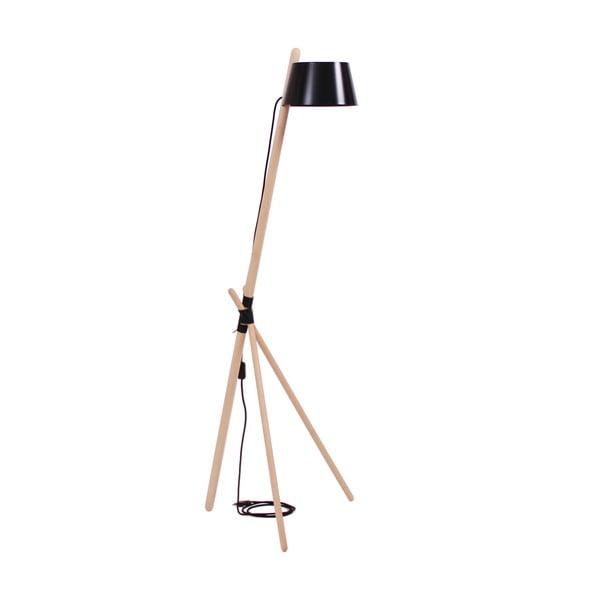Czarna lampa stojąca Woodendot Ka M