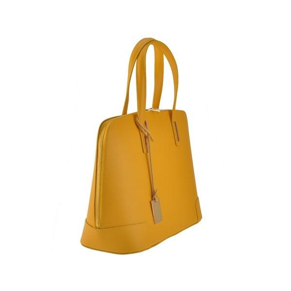 Skórzana torebka Rena, żółta