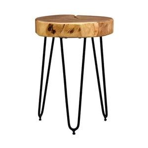 Stołek z siedziskiem z drewna akacjowego LABEL51 Bo