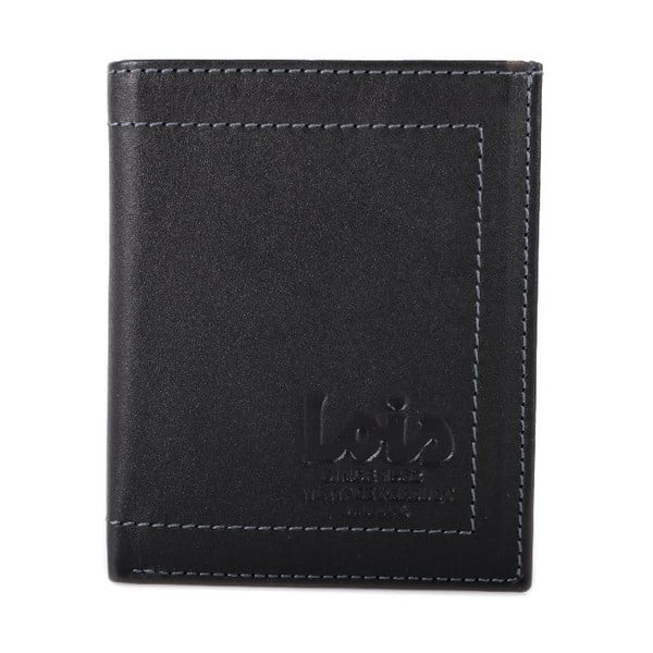 Skórzany portfel Lois Black, 8x10 cm